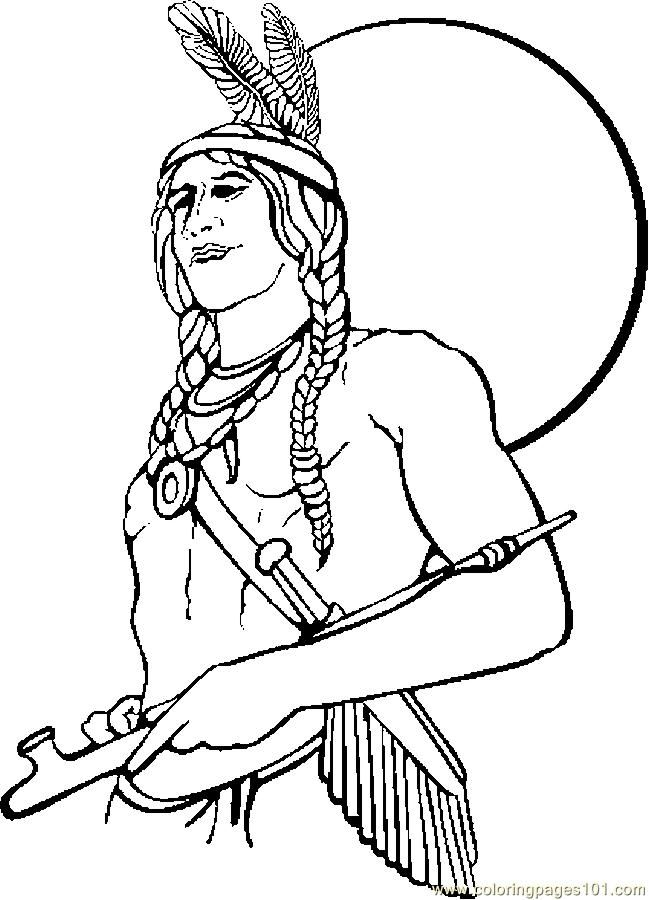 Native american cartoon pictures for Native american printable coloring pages
