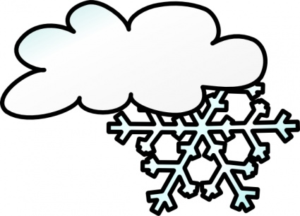 Winter Cloud Snow Flake clip art - Download free Christmas vectors