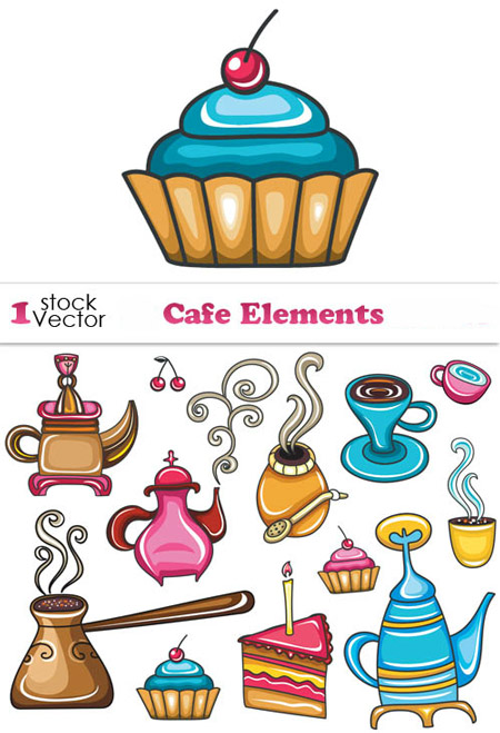 Quality Graphic Resources: Cafe Graphic Design Elements