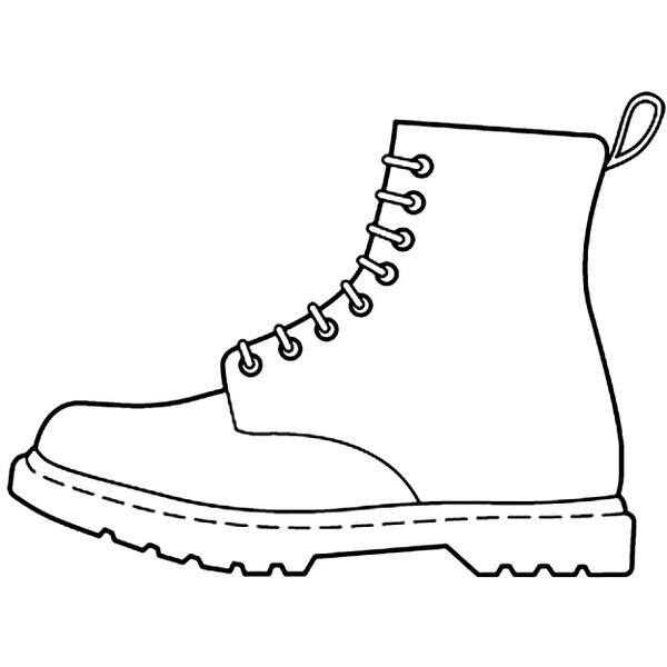 Outline Draeing Of High Heel Tennis Shoe Or Sneeker
