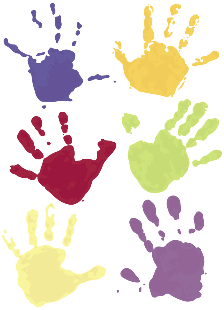 Free Handprint Clipart - Cliparts.co