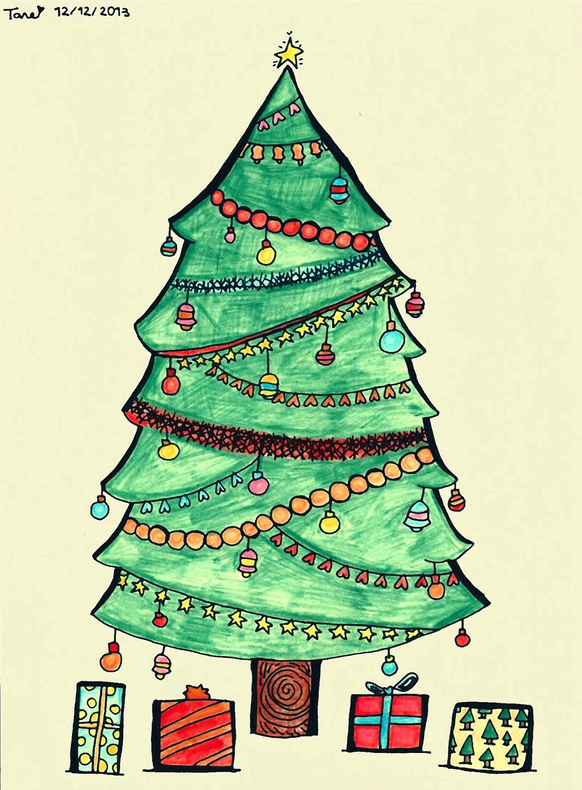 Christmas Tree Illustration Clipartsco