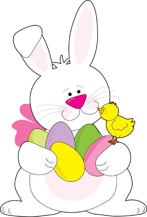 Easter Bunny With Eggs Clipart Easter Bunny With Eggs Clipart
