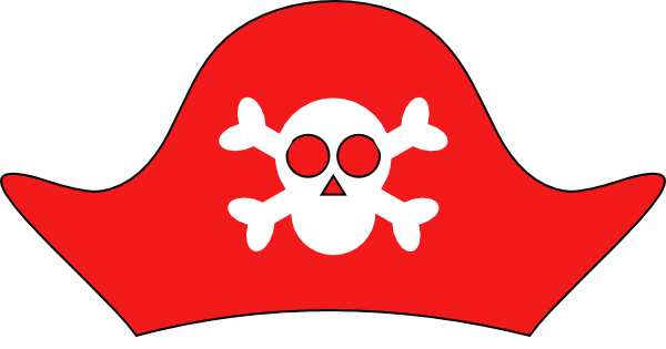 Pirate Hat clip art - vector clip art online, royalty free ...
