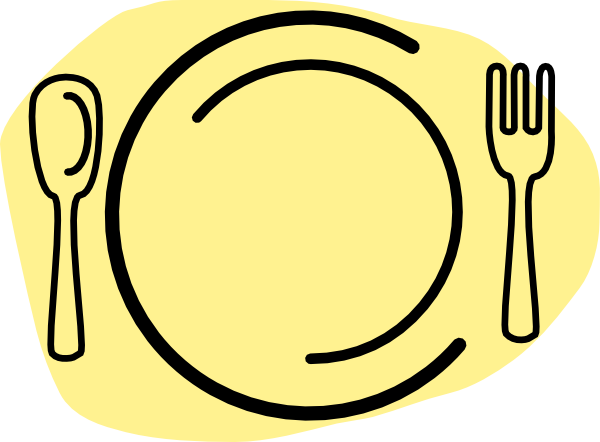 Iammisc Dinner Plate With Spoon And Fork clip art - vector clip ...