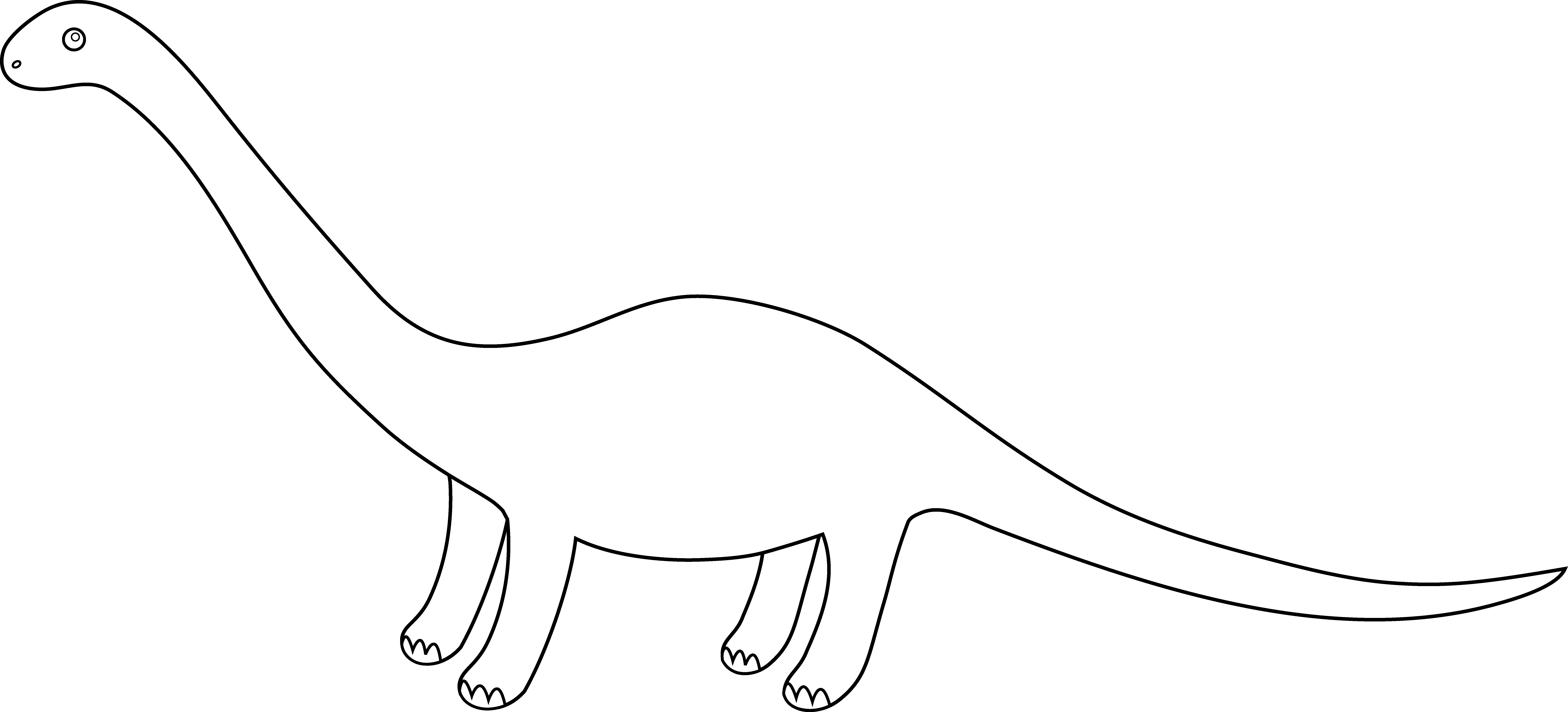 Line Drawing Dinosaur : Dinosaur outlines cliparts
