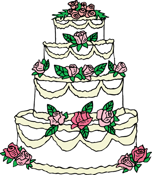Free Wedding Cake Clipart - Cliparts.co