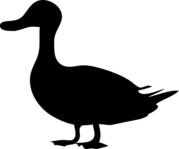 Duck Silhouette clip art - vector clip art online, royalty free ...