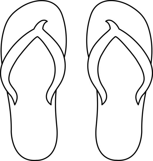 Cartoon Flip Flops Clip Art