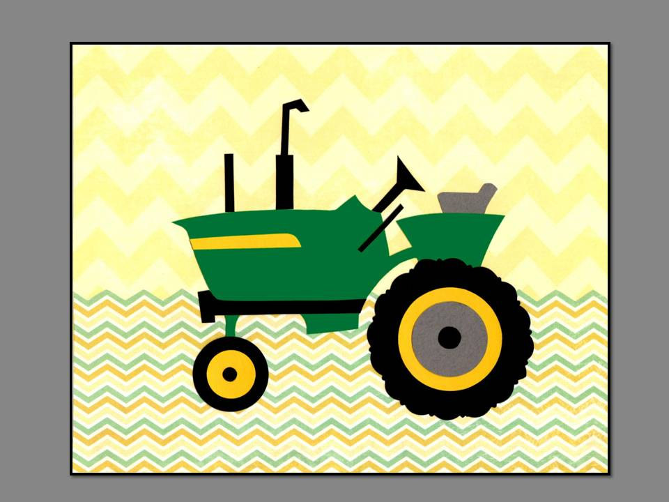 John deere tractor clip art for Tractor art projects