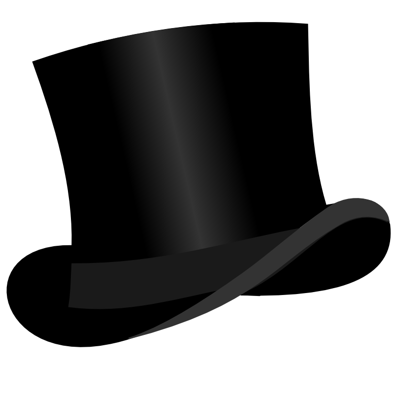 Fancy hats clip art
