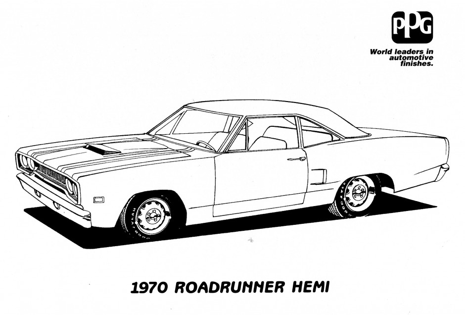muscle cars coloring pages drawings - photo#12