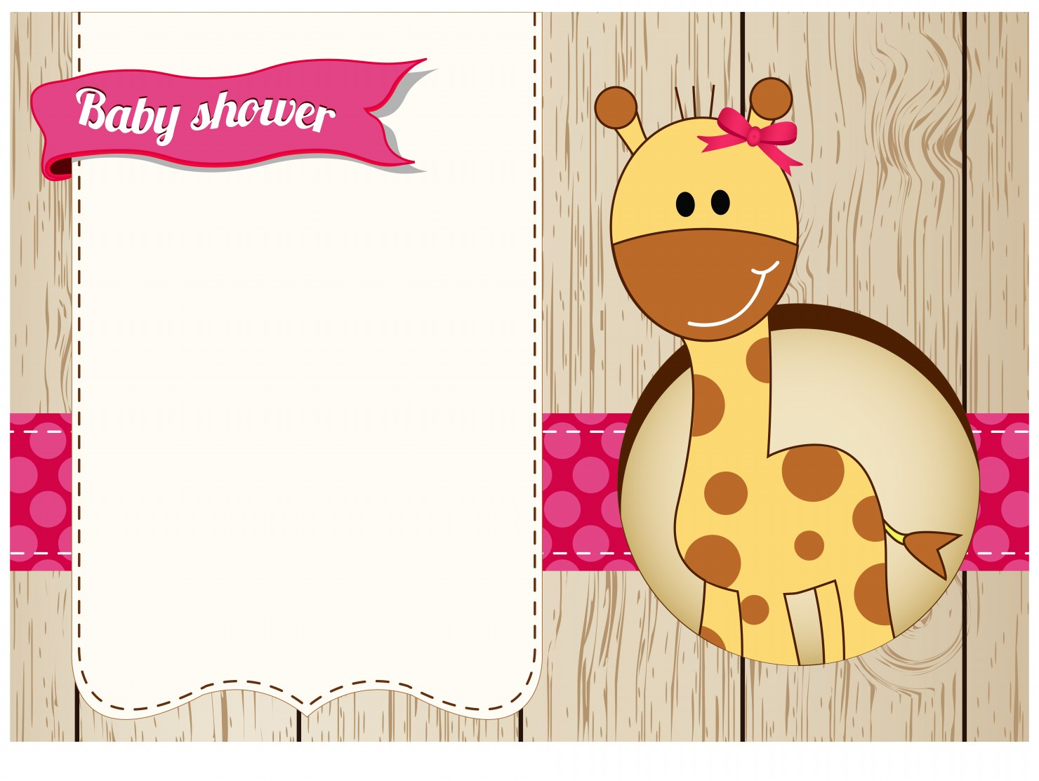 Charming Giraffe Baby Shower Invitations Was Great Invitations Sample