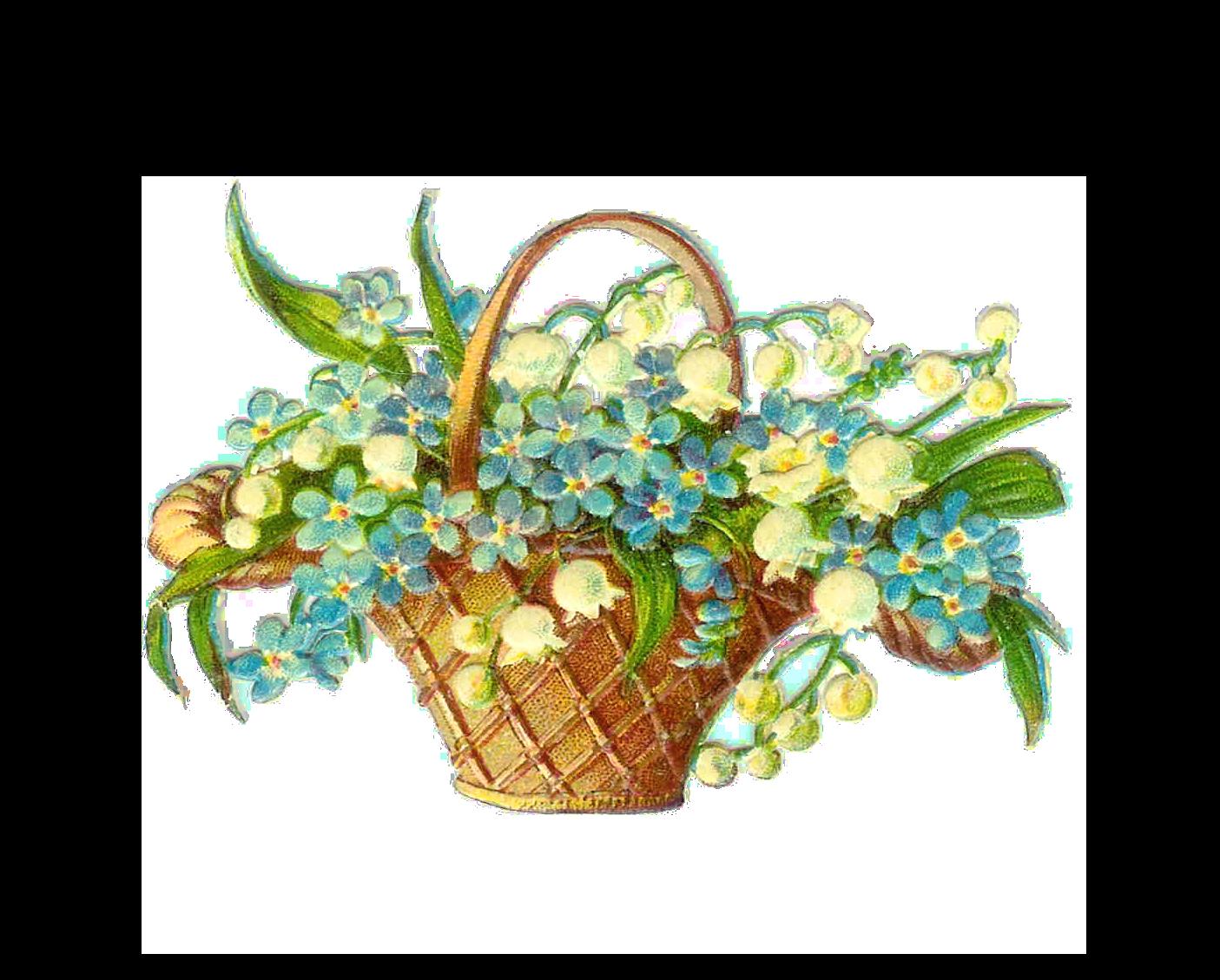 Art Basket Images : Vintage easter baskets cliparts