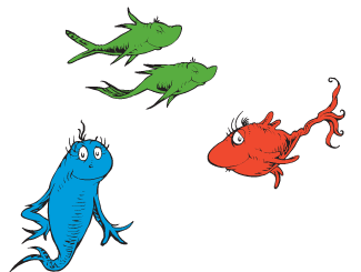 One fish two fish clip art for One fish two fish red fish blue fish coloring page
