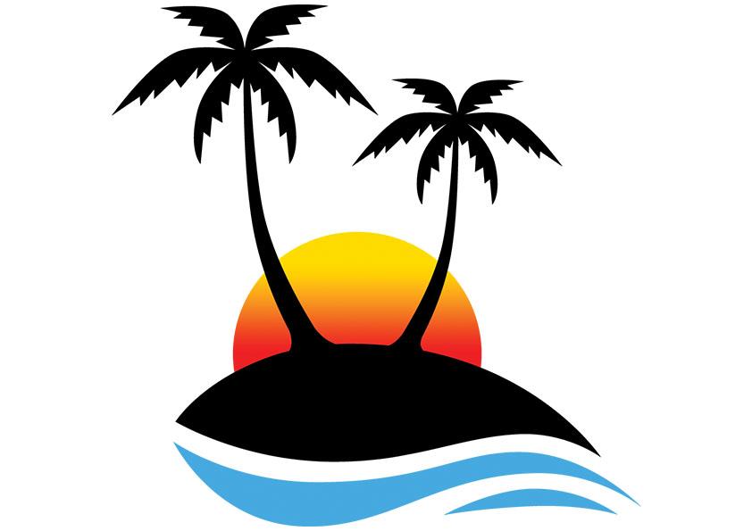 free clipart palm tree beach - photo #8