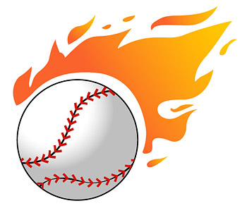 Baseball Flame Vector Graphic | Graphic Hive