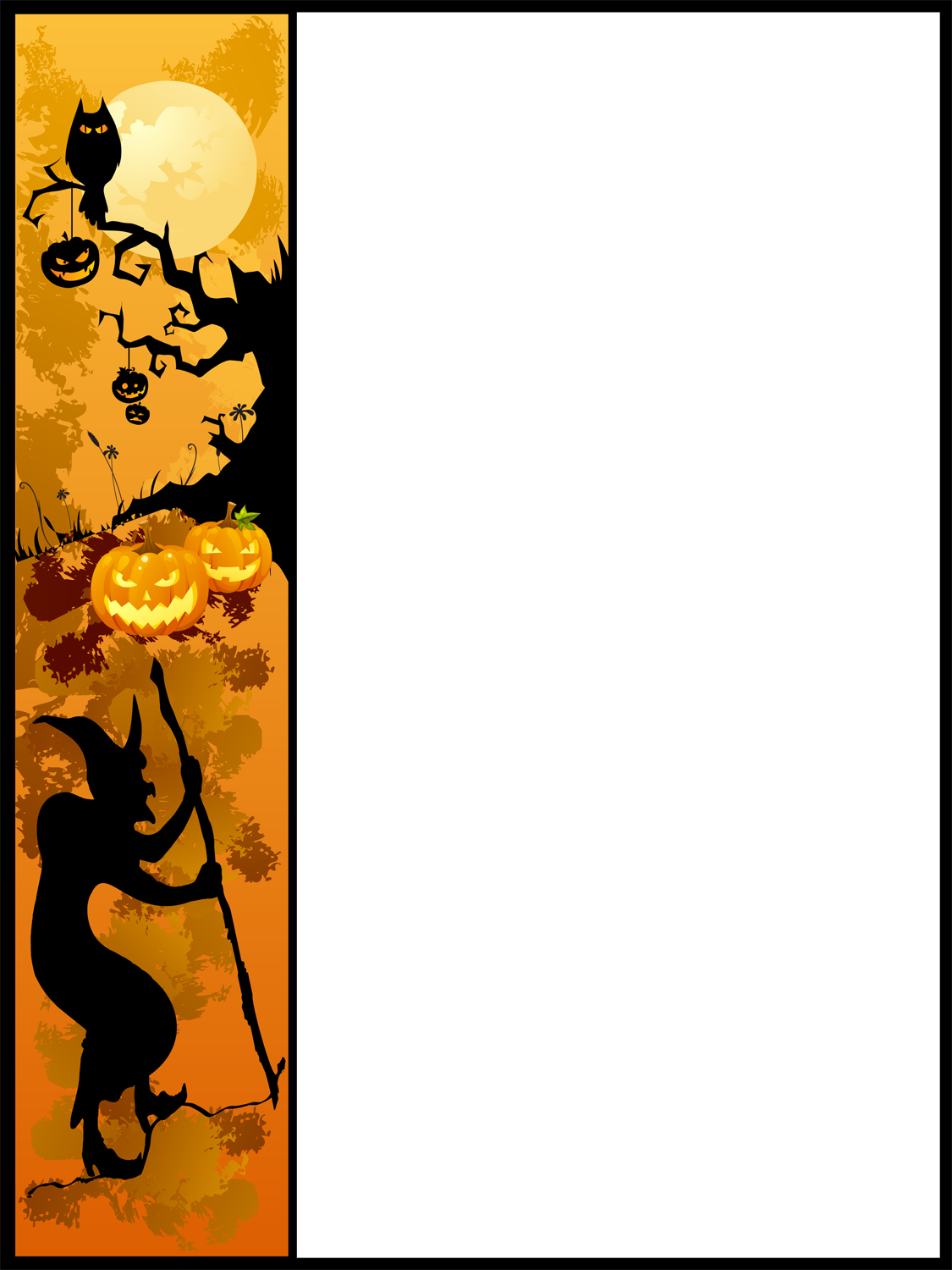Halloween Page Border - Cliparts.co