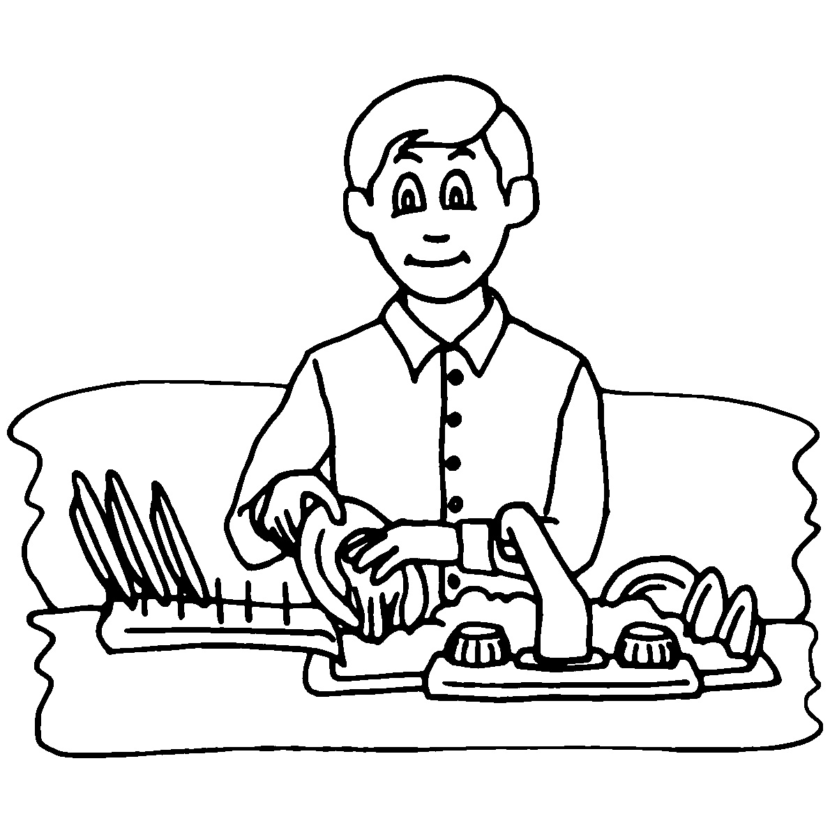 coloring pages kids chores by age | Household Chores Pictures - Cliparts.co