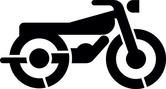 Car and Motorcycle stencils on Pinterest