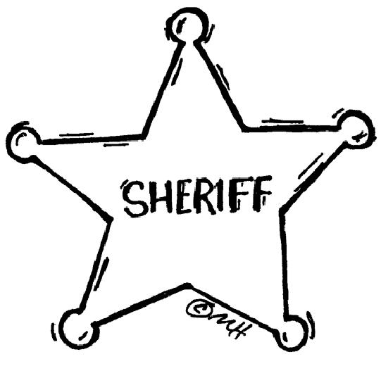 sheriff coloring pages - photo#17