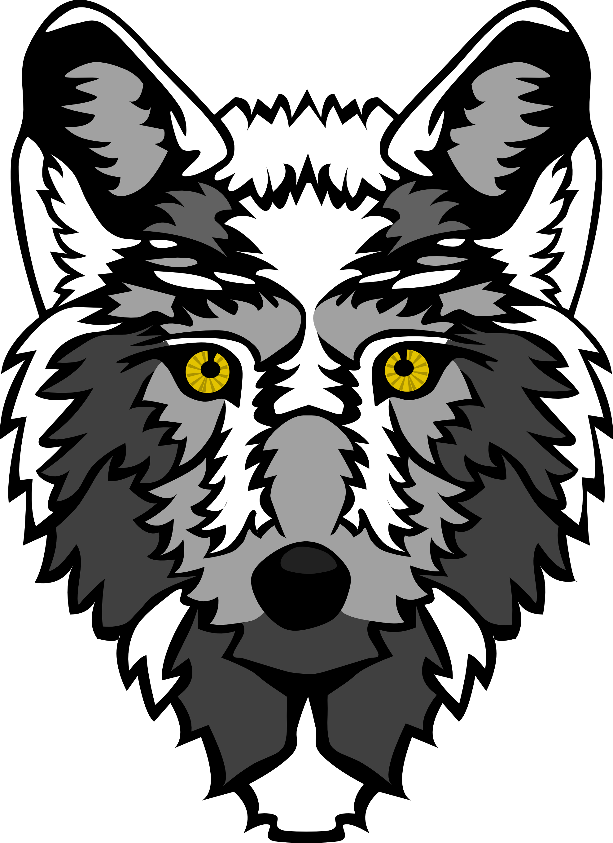 Wolf Head Clip Art - Cliparts.co