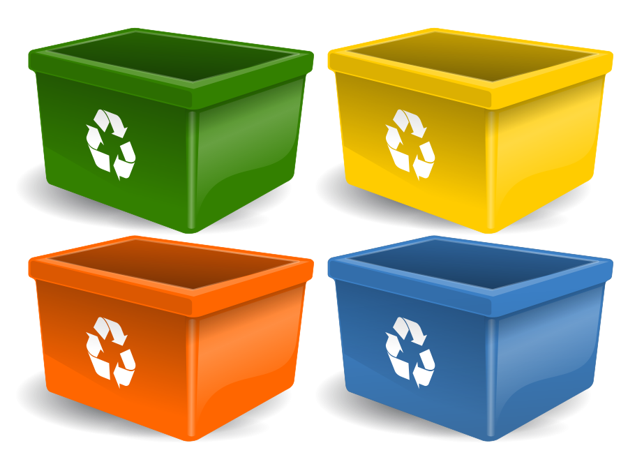 Recycling Bin small clipart 300pixel size, free design