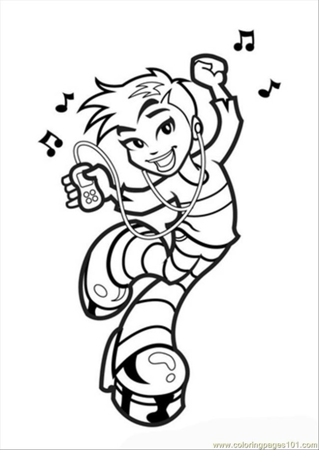 Boy Dance Coloring Pages For Kids