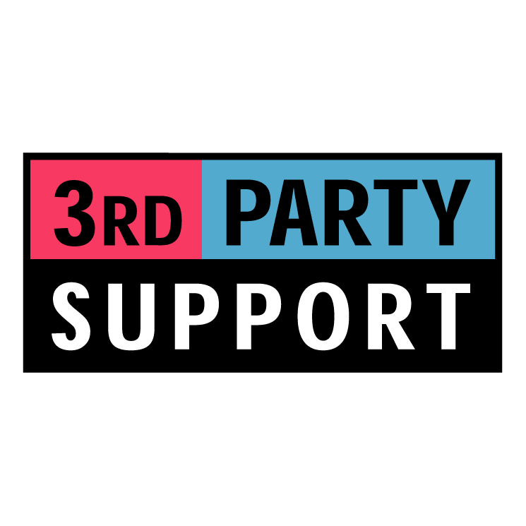 3rd party support Free Vector / 4Vector