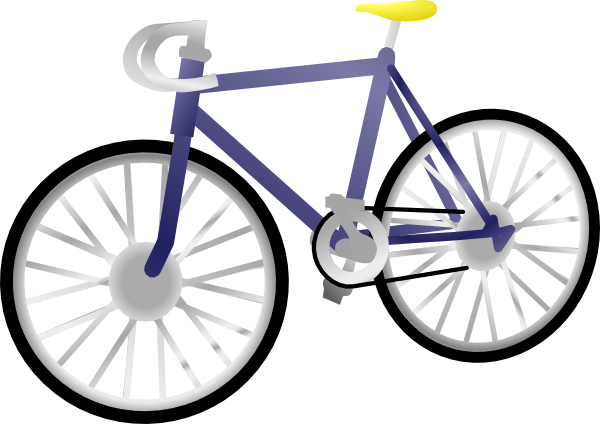 Bicycle clip art - vector clip art online, royalty free & public ...