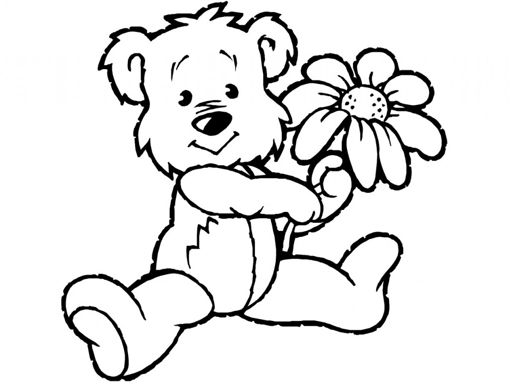 cartoon teddy bear coloring pages - photo#14
