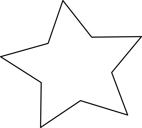 large star template to print