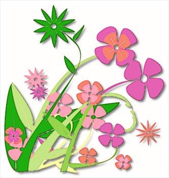 Clip Art Free Clipart Summer Flowers - Bunch Of Flowers Clipart Png,  Transparent Png , Transparent Png Image - PNGitem