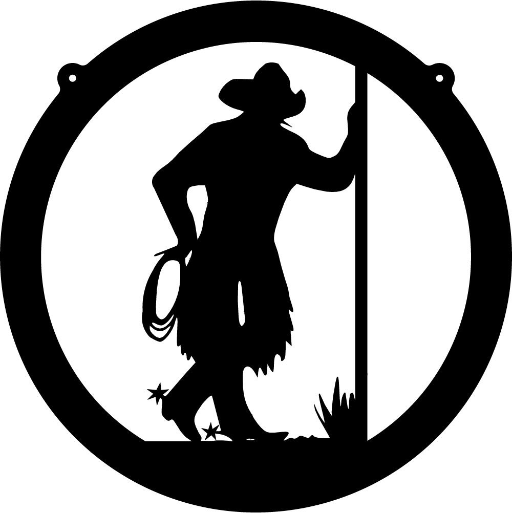Cowboy Circle Wall Decal - Custom Wall Graphics - ClipArt Best ...