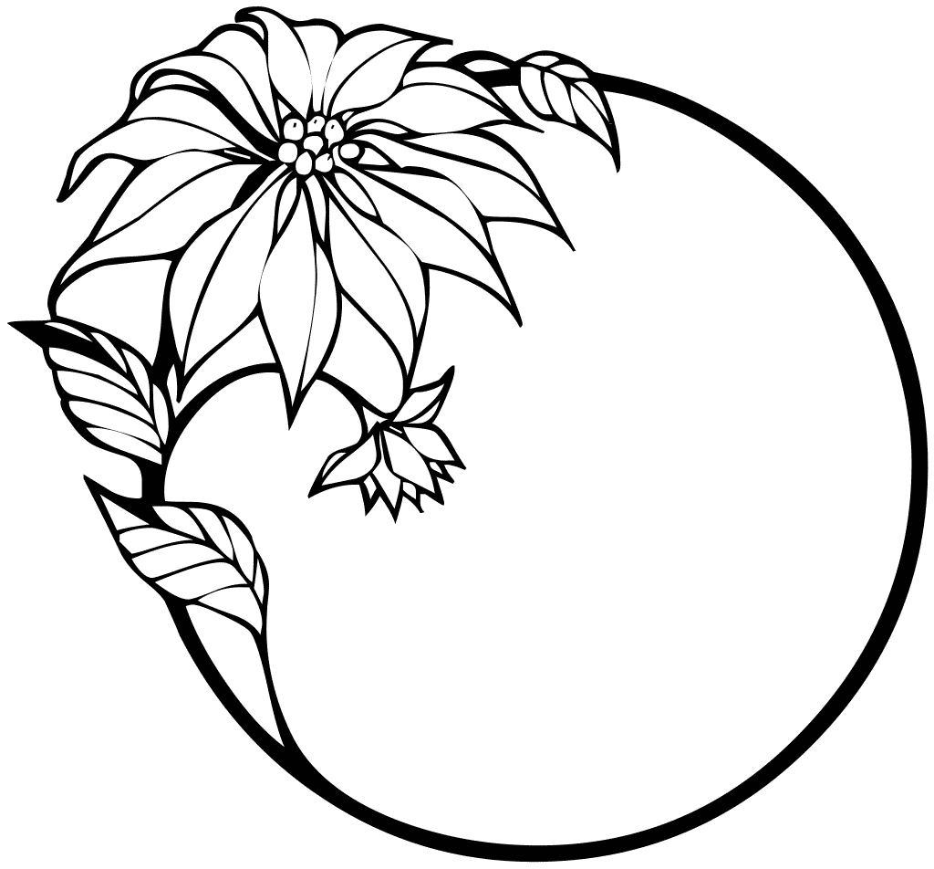 Flower Line Drawing Clip Art Free : Free clip art flowers line drawing gift tag clipart
