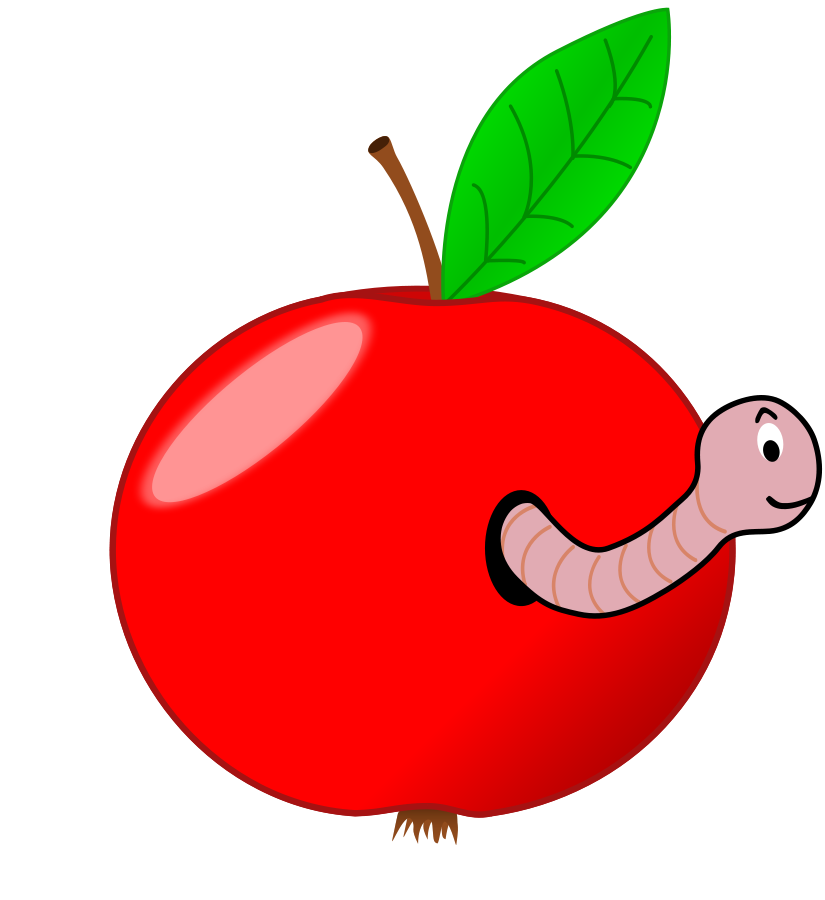 clipart apple worm - photo #1