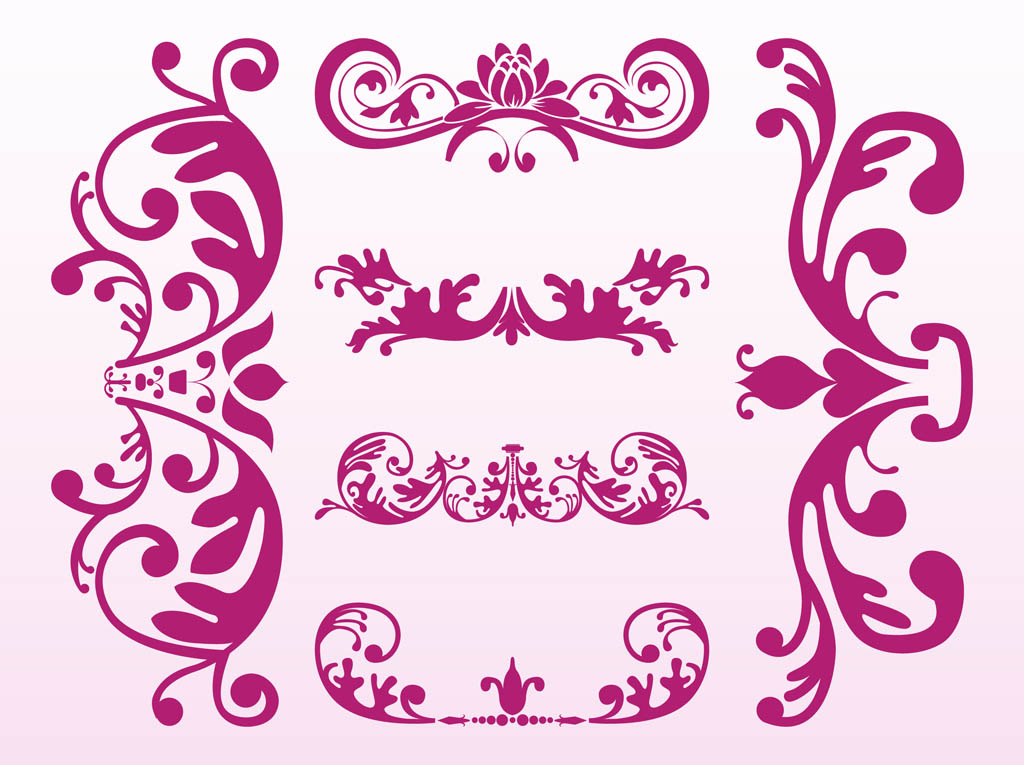 Free flower vectors 9 page for Design ornaments