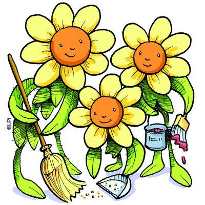 Pix For > Spring Yard Clean Up Clipart