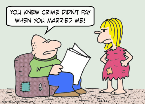 crime pay married marriage By rmay | Philosophy Cartoon | TOONPOOL