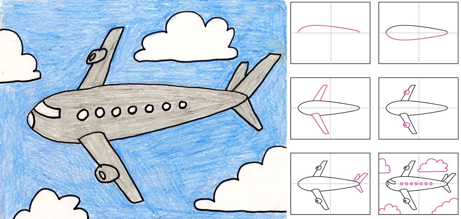 airplane drawing for kids cliparts co