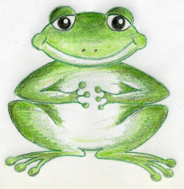 how to draw a real frog