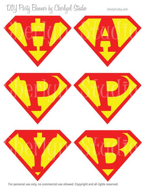 Superman Alphabet Letters Template