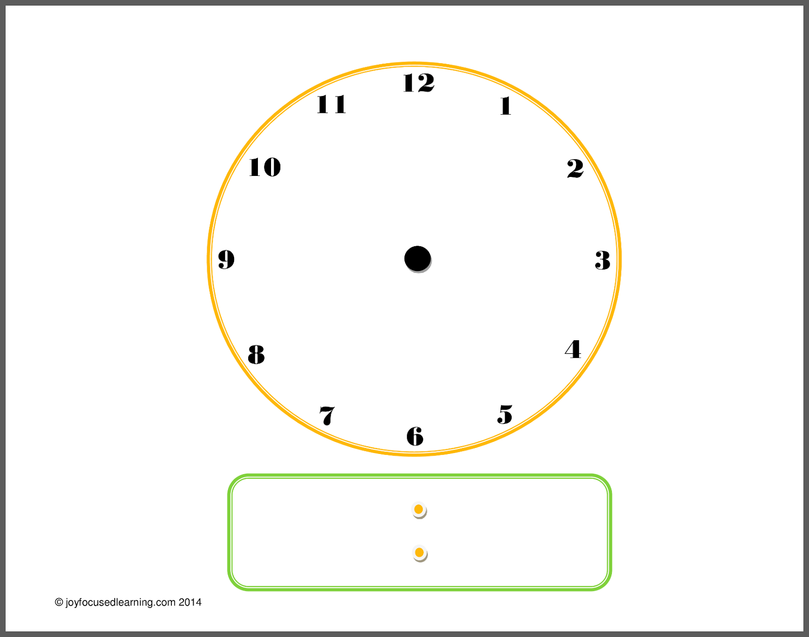 Blank Digital Clock Faces - Cliparts.co