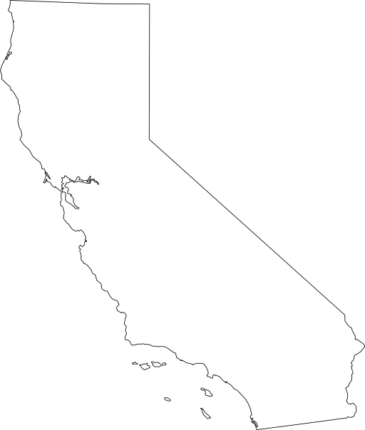 clip art california map - photo #19