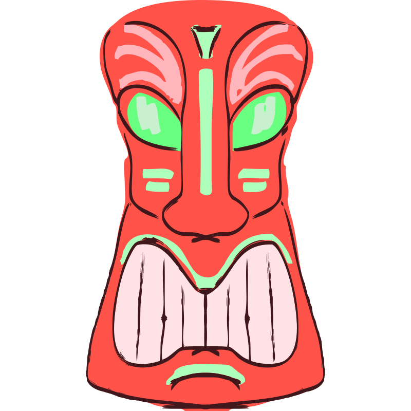 Clipart - Red Tiki