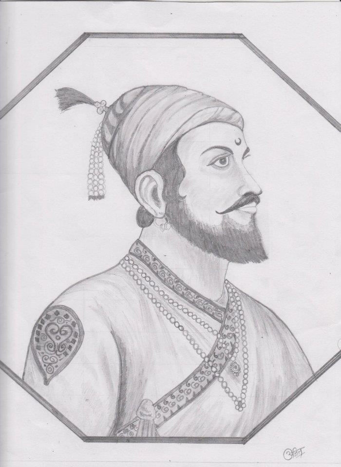 Shivaji Maharaj Sketch Art