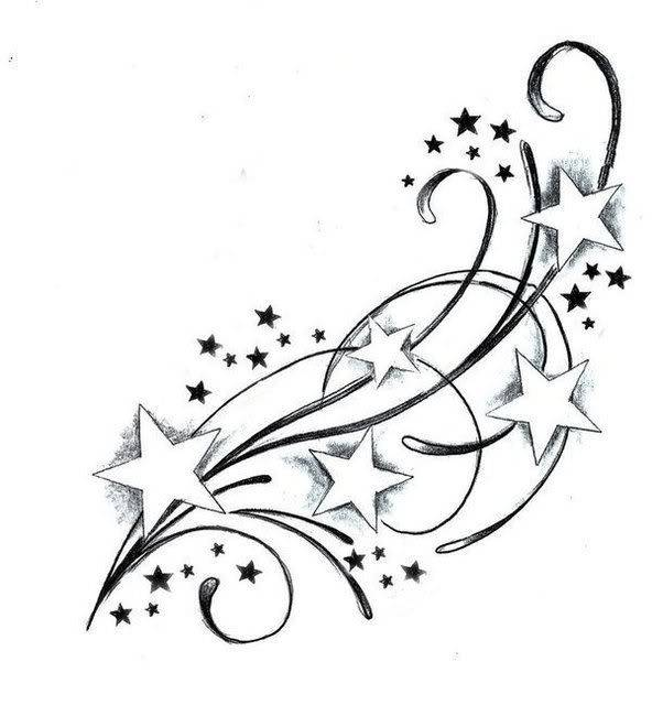 coloring pages shooting star - photo#31