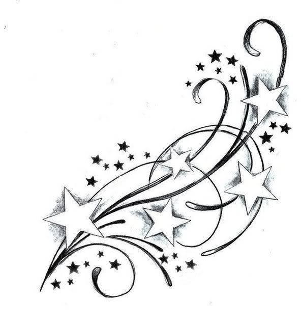 shooting star coloring page - shooting star drawing