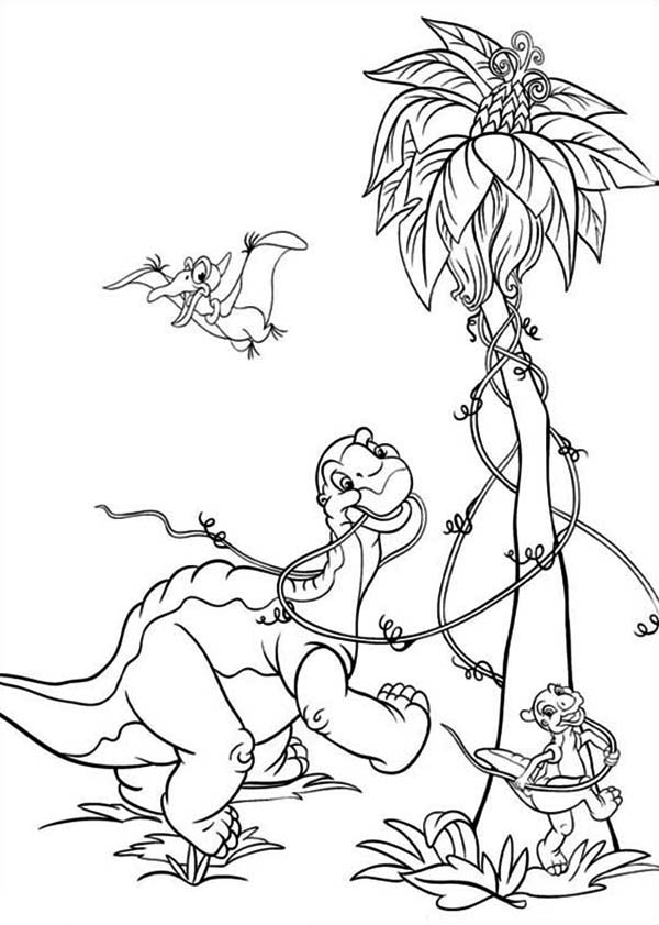 Ducky Jumps Land Before Time Coloring Page - Download & Print ... | 841x600