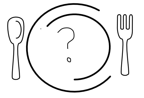Question Mark Dinner Plate clip art - vector clip art online ...